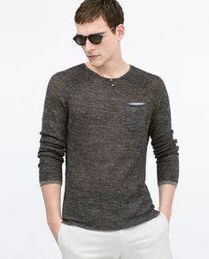 Henley neck sweater from Zara