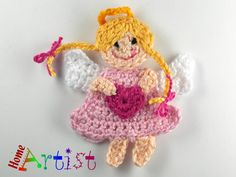 Crochet Applique Angel by HomeArtist on Etsy