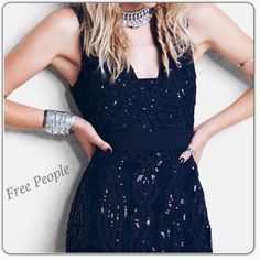 "⚡️FINAL PRICE⚡️NWT Beaded Bodycon Dress Free People Snake Charmer Bodycon Dress with embellishments. Absolutely stunning!!! Approximately 32"" in length. Hidden zip closure. Fits true to size. NWT Free People Dresses Mini"