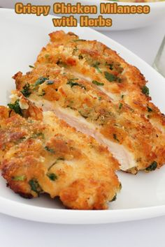 Chicken is coated in beaten egg and then herby, crispy Japanese breadcrumbs, before being shallow fried until golden brown and delicious. This is quick and easy to make.