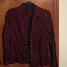 Banana Republic stretch dress shirt size S Beautiful wine color dress shirt from Banana Republic, size S, no stains or damage, worn just a few times, always dry cleaned Banana Republic Tops Button Down Shirts