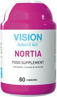 Nortia's unique formula is based on plants with calming properties, as well as on microelements and vitamins, required for normalization of the endocrine and cardiovascular systems in women. The formula is enhanced by iodine, vital for the female nervous system, as it restores functions of the thyroid gland, normalizes endocrine profile, stabilizes female psycho-emotional state, alleviates anxieties, during PMS as well. The complex regulates the level of serotonin. It protects female heart.