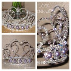 Tiara crown Handmade with love by me ! Find me on face book - Look Unique Networking & Hair Accessories