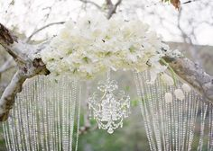 White floral, outside wedding