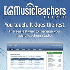 Save time Keep track of lesson schedules Automatic online invoicing Studio website Easy studio management  Music Teacher's Helper, Trial offer