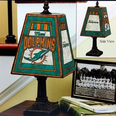 Miami Dolphins Art-Glass Table Lamp