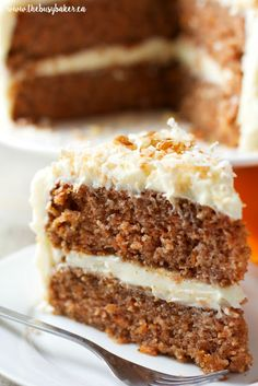 Classic Carrot Cake with Cream Cheese Frosting - The Busy Baker