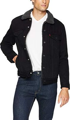 Looking for Levi's Men's Type III Sherpa Jacket ? Check out our picks for the Levi's Men's Type III Sherpa Jacket from the popular stores - all in one. Lined Flannel Shirt, Lined Denim Jacket, Denim Coat, Leather Jacket, Levis Sherpa Jacket, Denim Jackets, Black Denim Jacket Men, Blue Denim, Mens Sherpa