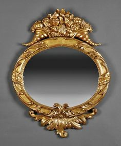 An American Classical Giltwood Mirror : Lot 151 Convex Mirror, Mirror Mirror, Mirrors, Acanthus, Picture Frames, Auction, Vanity, American, Wall