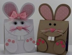 Handmade Bunny Cards with Punch Art - Too Cute! Easter Projects, Easter Crafts, Crafts For Kids, Craft Projects, Easter Ideas, Spring Crafts, Holiday Crafts, Kids Cards, Easter Bunny