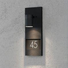 Plaque numéro de maison lumineux MODENA 1 x 35W, GU10, noir 35 x 42,5 x 42,5 cm - IP 44