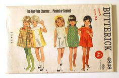 vintage kid's a-line dress pattern. how cute!