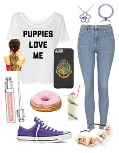 """""""@jc11-1"""" by winternightfrostbite ❤ liked on Polyvore featuring Topshop, Christian Dior, Converse and Belk & Co."""