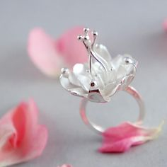 Floral silver jewelry | RINGS