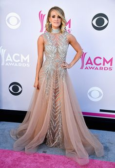 Carrie Underwood in LaBourjoisie - The 2017 ACM Red Carpet Looks You Can't Miss - Photos