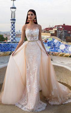 Detachable Wedding dresses, Cheap Wedding Dresses, Champagne Wedding Dresses, Wedding Dresses Cheap, Sleeveless Wedding Dresses, Long Wedding Dresses, Sheath Wedding Dresses, Cheap Long Dresses, Long Dresses Cheap, Long Wedding Dresses With Applique Sleeveless Detachable