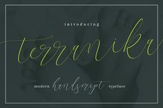 Terranika Typeface by thirtypath on @creativemarket