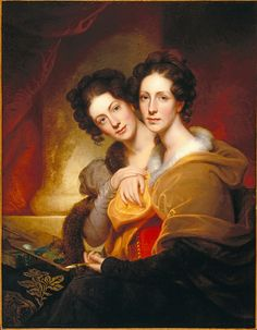 Rembrandt Peale: The Sisters (Eleanor and Rosalba Peale)    Peale. 1826. Oil painting. 42x33 inches.