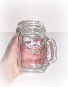 "Mason Jar With Handle ""Coca Cola - Knowlwood"" Clear Glass Mug Drinking Jar Canada by SheCollectsICreate on Etsy"