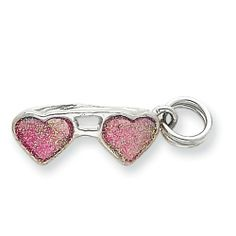Sterling Silver Pink Sunglasses Charm Real Goldia Designer Perfect Jewelry Gift goldia. $14.80