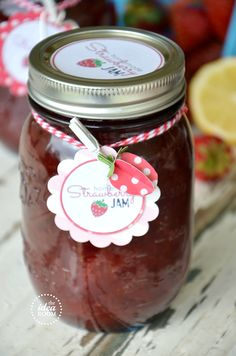 Free Printable Jam and Jelly Labels from The Idea Room