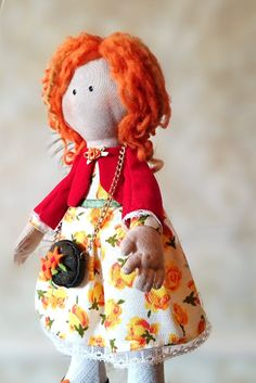 Textile doll Alice interior doll Art cloth Doll OOAK collectable doll birthday gift for girls by MaryankaDolls on Etsy