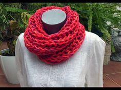 Brioche Stitch Scarf en 2 agujas o palitos Crochet Winter, Knit Crochet, Crochet Hats, Crochet Videos, Neck Scarves, Slip Stitch, Knitting Stitches, Knit Patterns, Youtube