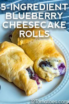 Cream Cheese Crescent Rolls, Crescent Roll Dough, Cheesecake Crescent Rolls, Cresent Rolls, Lime Cheesecake, Blueberry Cheesecake Muffins, Lemon Muffins, Blueberry Cobbler, Sweet Desserts