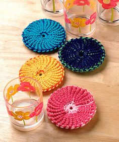 Free Colorful Coasters crochet pattern download courtesy of the Talking Crochet newsletter. Sign up for the free newsletter here: www.AnniesNewsletters.com. Access this free download here: http://www.crochetmagazine.com/newsletters/talkingcrochet/pages/TCNL2708_patt2.html