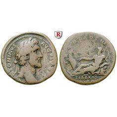 Römische Kaiserzeit, Antoninus Pius, As 140-144, f.ss: Antoninus Pius 138-161. Kupfer-As 140-144 Rom. Kopf r. mit Lorbeerkranz… #coins