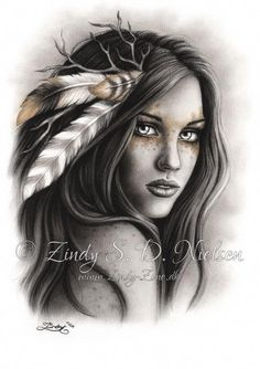 Top 30 Best Canvas Designs Art Wallpaper for Girls Pictures Indian Women Tattoo, Native Indian Tattoos, Indian Girl Tattoos, Back Tattoo Women, Native American Drawing, Native American Tattoos, Native American Girls, American History, Tattoo Girls
