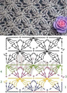 Captivating All About Crochet Ideas. Awe Inspiring All About Crochet Ideas. Crochet Stitches Chart, Crochet Motifs, Crochet Diagram, Stitch Patterns, Knitting Patterns, Crochet Patterns, Crochet Gratis, Free Crochet, Crochet Designs
