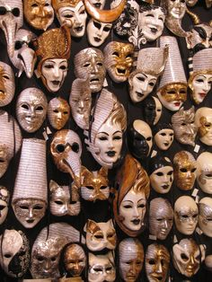 Musical note paper on Mask surfaces.