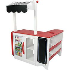 Kids Pretend Store Toy Grocery Stand from One Step Ahead - might need to diy something like this