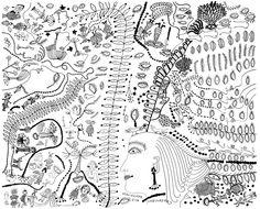 現代アーティストの草間彌生が、童話作家ハンス・クリスチャン・アンデルセンの「人魚姫」の夢のような挿絵を描き、彼女特有の白黒の模様が、薄暗いおとぎ話に命を吹き込んだ。