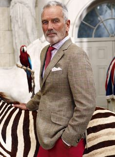 Roy Somersett Never too old. Young at heart always. Men's fashion styles.  Hairstyles beards / facial hair. Expression .grey hair // i hope to be an mature man similar to this with all that swagger...