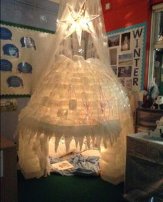 Winter Igloo classroom display photo - SparkleBox