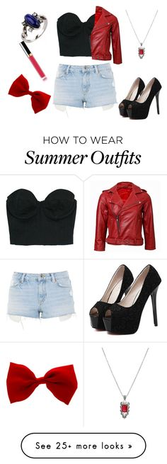 """""""Summer outfit 80"""" by adelineojeda on Polyvore featuring Topshop, WithChic and Hot Topic"""