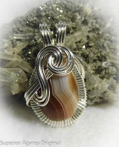 WE ARE GETTING MARRIED SALE!! 30% OFF - CPN CODE: 30OFF Classic Lake Superior Agate Wire Wrapped Stone by superioragates, $35.00