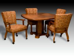 Custom Dining Set With Chairs On Rollers Made By IM David Furniture Available At