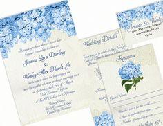 DIY Printable Wedding Invitation Rustic by HeartStarDesign