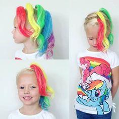 Wacky hair day at school