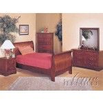 $819.00  Acme Furniture - Louis Philippe Cherry 3 Piece Sleigh Bedroom Set - 8670At-3Set