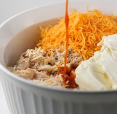Buffalo Chicken Dip--not made with canned chicken  - I like using the rotisserie chicken as well - either way YUM!