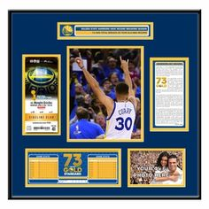 Golden State Warriors 73rd Win Ticket Frame