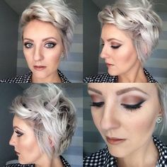 Short Hair blond Bobby Pin Hairstyles, 2015 Hairstyles, Pixie Hairstyles, Hair Trends 2015, Short Hair Trends, Short Hair Styles, Transition To Gray Hair, Short Pixie, Great Hair
