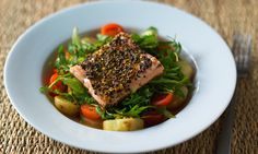 Crisp salmon salad