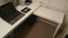 Best ikea malm desk setups images desk setup