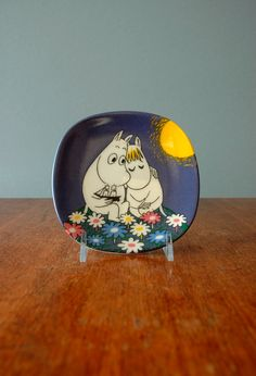 Collectible Arabia Finland Moomin Moonshine Plate by luola Tove Jansson, Inka, China Patterns, Hand Painted Ceramics, Plates On Wall, Scandinavian Design, Moomin Valley, Swarovski, Illustration Art