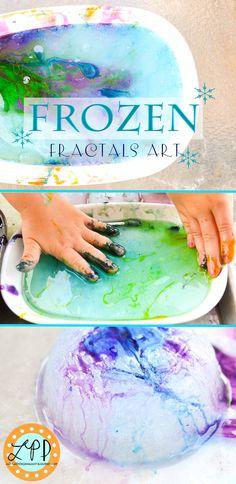 Frozen Fractals Art Activity-Beautiful sensory art (yummy to eat too)